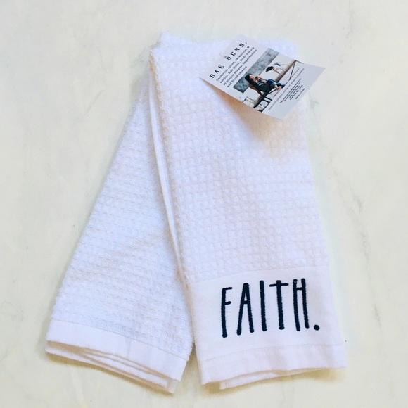 """Rae Dunn Kitchen Towels """"HOPE"""" """"FAITH """" NWT"""